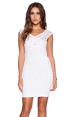 Nightcap Cherokee Stripe Lace Diamond Dress in White