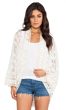 Nightcap Lace Kimono in Natural