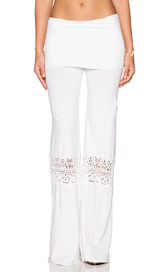 Nightcap Crochet Beach Pants in White