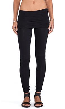 Nightcap Neon Foldover Legging in Black