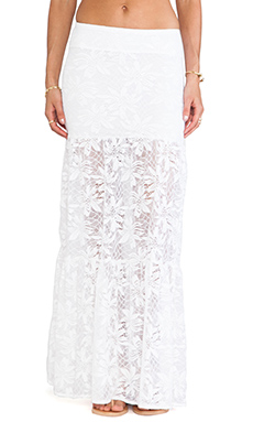 Nightcap Desert Bloom Skirt in White