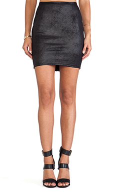 Nightcap Vegan Leather Skirt in Black