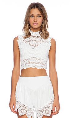 Nightcap Dixie Crop Top in White