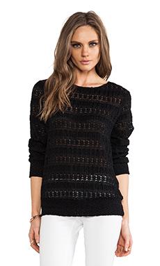 Nightcap Autumn Leaf Lace Sweater in Black
