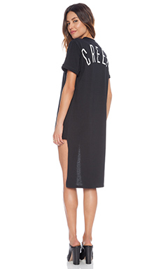 Nightwalker Hi-Lo Creep Tee Dress in Black