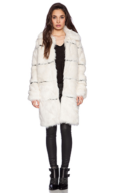 Nightwalker Moss Is Boss Coat in Cream & Black