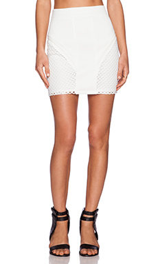 Nightwalker Hip and Bone Skirt in White