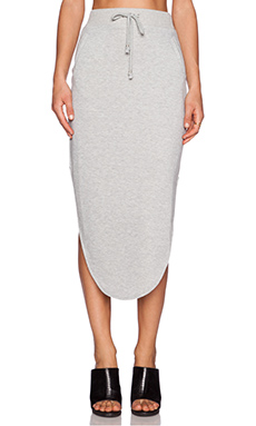 Nightwalker Anarchy Maxi Skirt in Grey