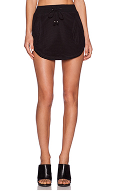 Nightwalker Apocalypto Mini Skirt in Black Mesh
