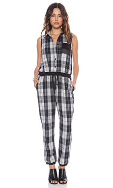 Nightwalker Apollo Jumpsuit in Black & White