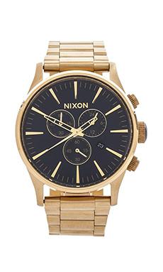 Nixon The Sentry Chrono in Gold & Blue Sunray