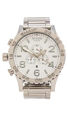 Nixon 51-30 Chrono in High Polish & White