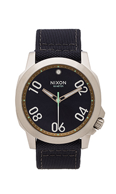 Nixon The Ranger 45 Nylon in Navy & Brass