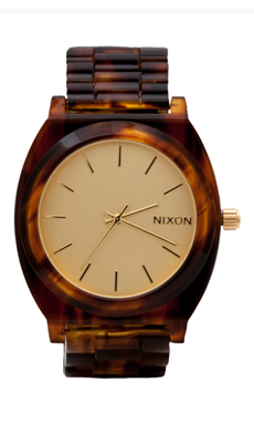 Nixon The Time Teller in Gold/ Molasses