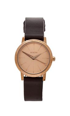 Nixon The Kenzi Leather in Rose Gold & Brown