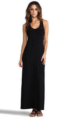 Kamali Kulture by Norma Kamali Racer Maxi Gown in Black