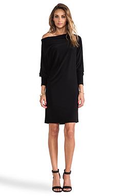 Norma Kamali KAMALIKULTURE All in One Dress in Solid Black