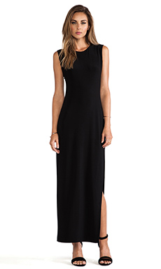 Norma Kamali KAMALIKULTURE Sleeveless Maxi Dress in Solid Black