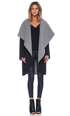Sweats by Norma Kamali Reversible Shawl Collar Coat