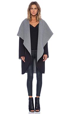 Sweats by Norma Kamali Reversible Shawl Collar Coat