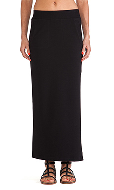 Sweats by Norma Kamali Maxi Skirt in Black