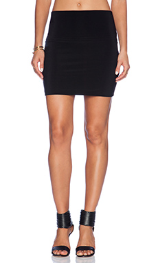 Norma Kamali KAMALIKULTURE Go Mini Skirt in Black