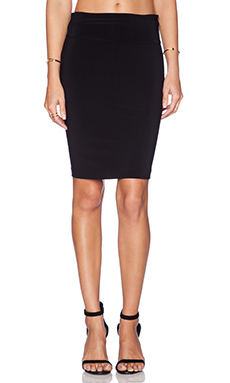 Norma Kamali KAMALIKULTURE Go Skirt in Black