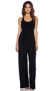 Norma Kamali KAMALIKULTURE Go Criss Cross Jumpsuit in Black