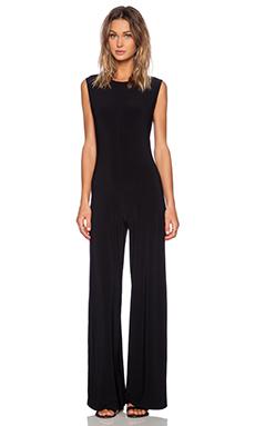 Norma Kamali KAMALIKULTURE Sleeveless Jumpsuit in Black