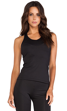 Active by Norma Kamali Racer Active Tank in Black