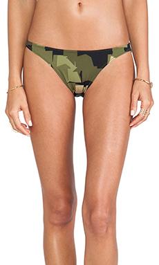 Norma Kamali KAMALIKULTURE Eric Bikini Bottom in Olive Camo