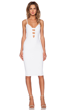 Nookie Naomi Bodycon Dress in White