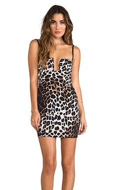 Nookie Bustier Dress in Feline