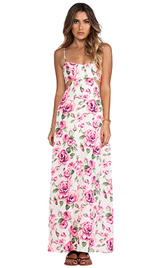 Nookie Valentine Cut Out Maxi Dress in White