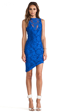 Nookie Renegades Lace Dress in Cobalt