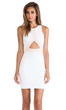 Nookie Covet Two Tone Shift Dress in White