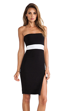 Nookie Covet Strapless Dress in Black