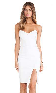 Nookie Snake Eyes Bustier Dress in White