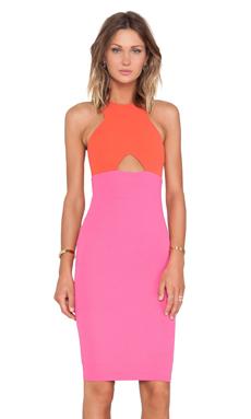 Nookie Farrah Shift Dress in Orange & Pink