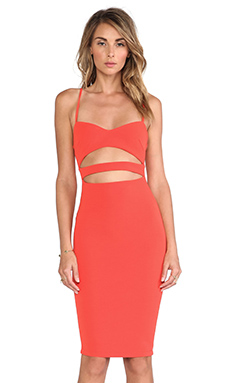 Nookie Bridget Bustier Dress in Orange