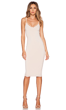 Nookie Mi Amore Backless Shift Dress in Nude