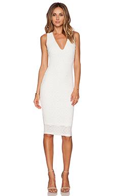 Nookie Catch & Kiss Cross Back Dress in White