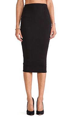 Nookie Pucker Up Pencil Skirt in Black
