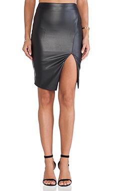 Nookie Black Jack Skirt in Leather Look