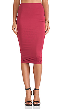 Nookie Casino Pencil Skirt in Berry