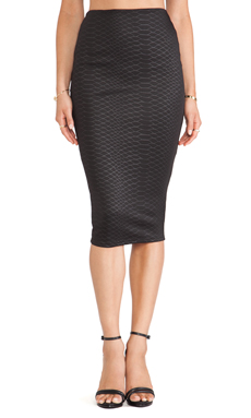 Nookie Snake Eyes Pencil Skirt in Black