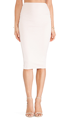 Nookie Snake Eyes Pencil Skirt in Shell