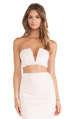 Nookie Snake Eyes Crop Top in Shell