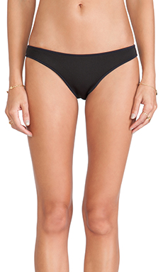 Nookie Beach Nix Neoprene Brief in Black & Black