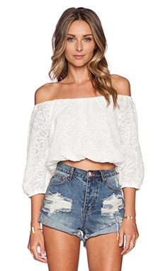 Nikki Reed for REVOLVE Hadley Top in Cream